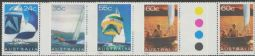 Australian Stamps SG 833-6 Yachts set of 4 colour control circle gutter pairs (AF1/208)